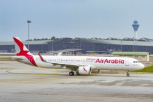 Air Arabia lands at Kuala Lumpur International Airport
